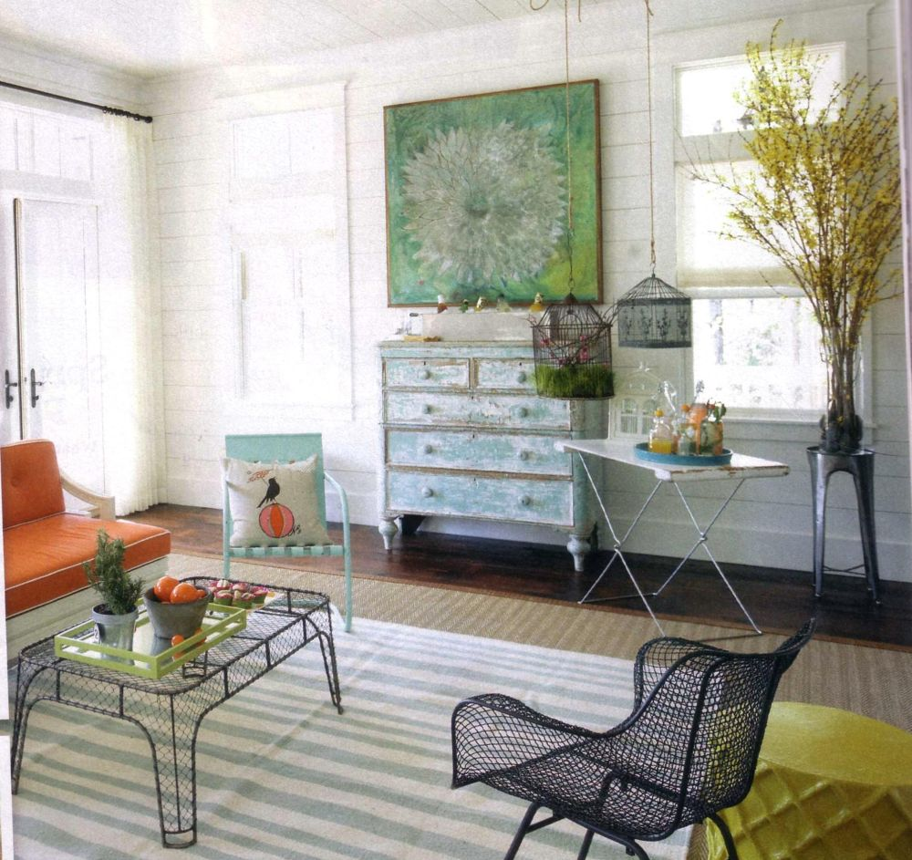 Patio Furniture For Living Room: She Moves The Furniture: Garden Furniture Invited Indoors