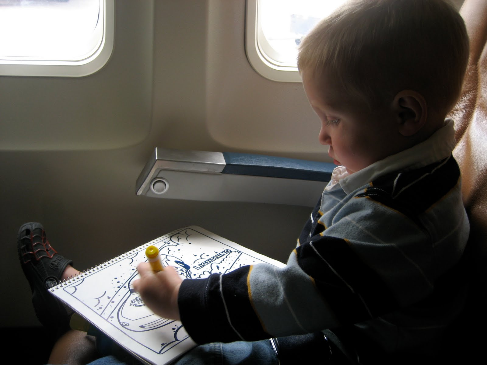 traveling with toddler plane
