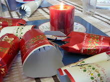 Christmas crackers are traditions at Christmas meals in England