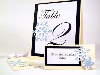 Custom Place Card and Table Number Set