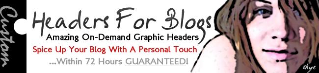 Blog Design | Graphic Design For Blogs | Header Design Service