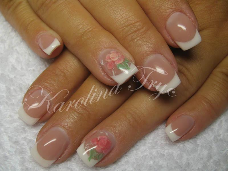 Beautiful Nail Art: Natural nails uv gel overlay - white french + ...