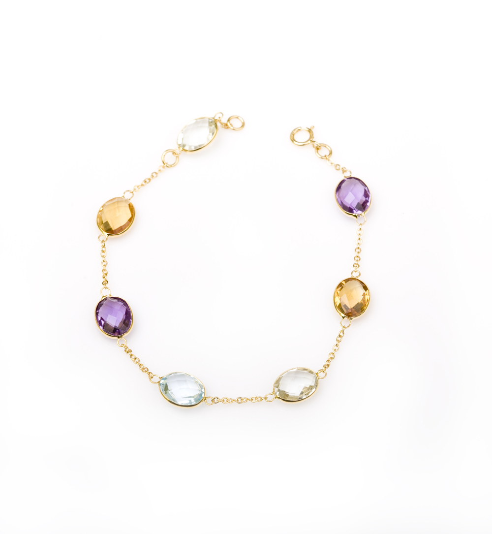 Light Multi Color Stone Bracelet