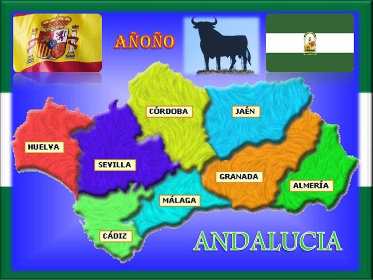 MAPA DE ANDALUCIA- ESPAÑA