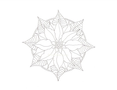 Poinsettia Mandala Coloring Pages