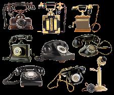 Imágenes de la evlución del teléfono