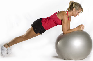 Plank ball Holiday Hottie Mommy Tummy Tightening