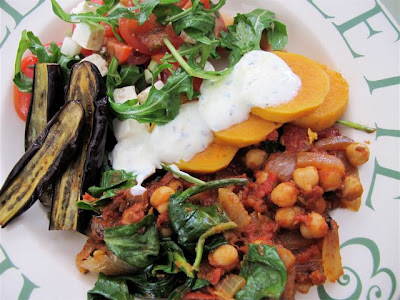 Ottolenghi recipe chickpeas sweet potato lemon garlic yogurt
