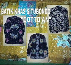 """BATIK TULIS KHAS SITUBONDO motif """"COTTO'AN"""""""