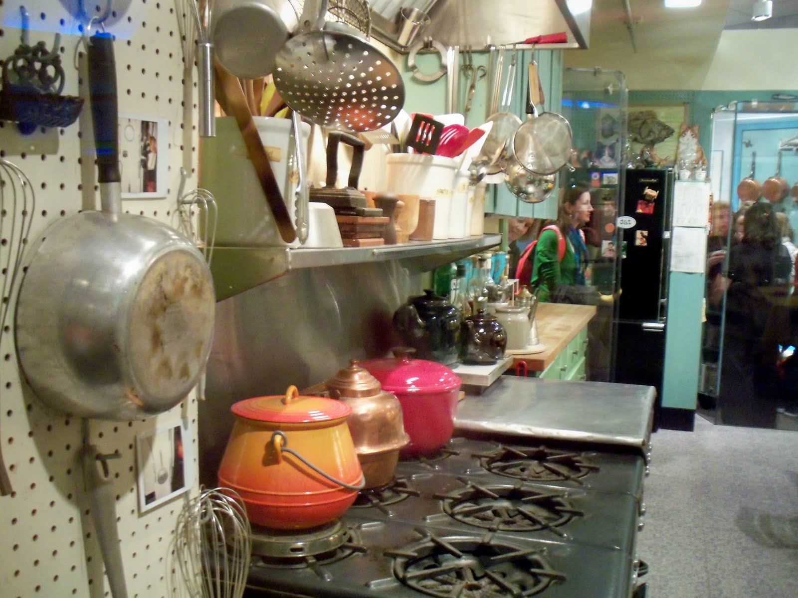 well on wheels - the traveling vegan chef: julia child's kitchen
