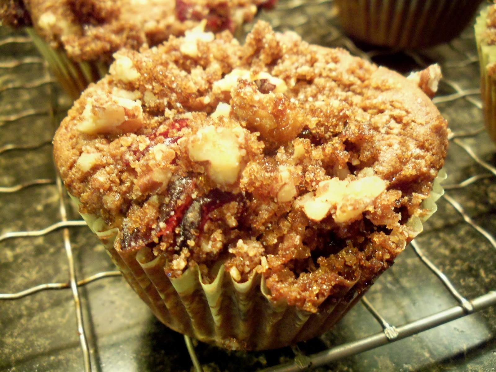 ... traveling vegan chef: GF Pumpkin Muffins with Cranberry Pecan Streusel