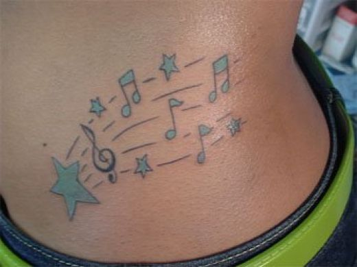 tattoos of music. music tattoo ideas. music note