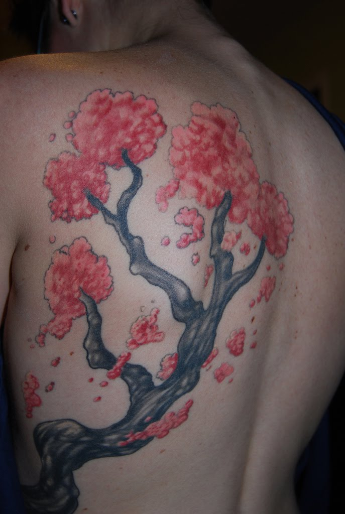 tree tattoos. cherry blossom tree tattoos.