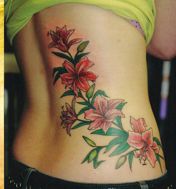 flower sleeve tattoos. cherry blossom flower tattoo.