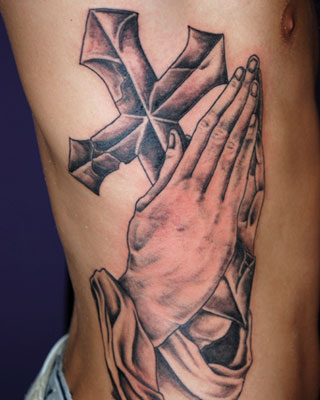 The praying hands tattoos are one of the most beautiful tattoos a person can