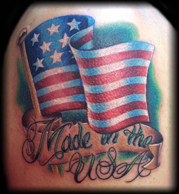 American Flag Tattoos. who loitered Allies+flag