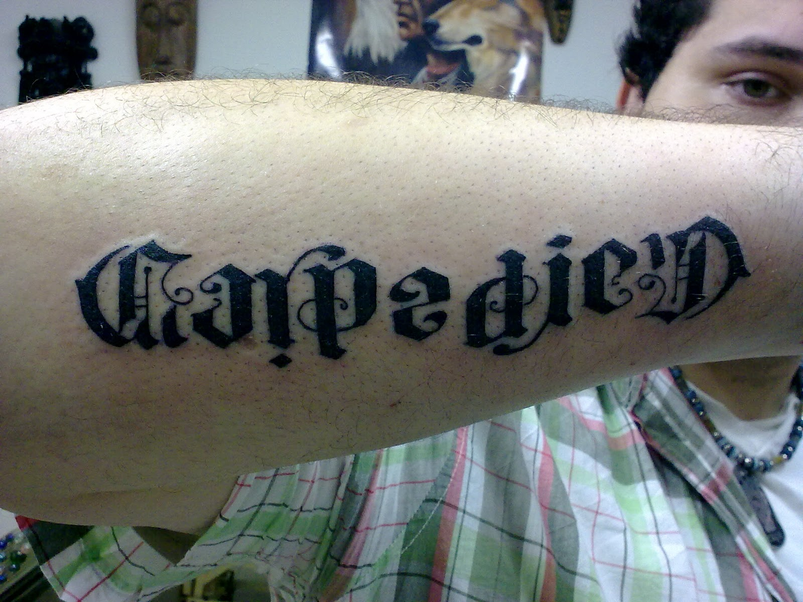 Chicano Style Lettering TaT by