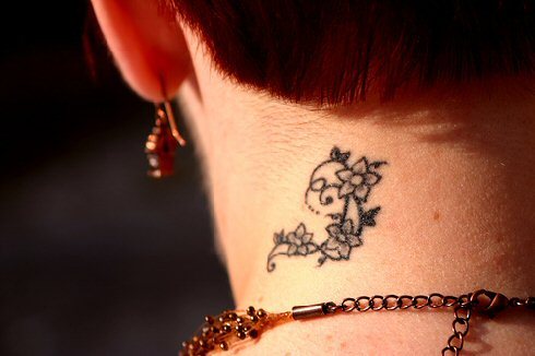 Women Neck Tattoos 2