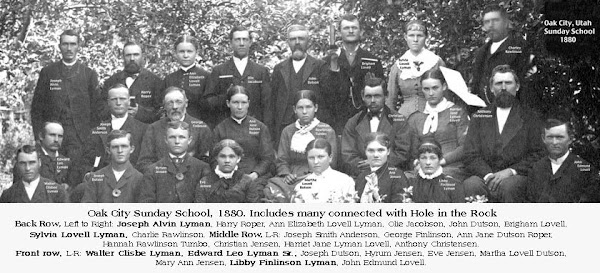 Oak City Pioneers in Sunday School Class 1880