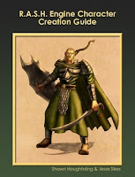 R.A.S.H. Engine Character Creation Guide cover. Click here to download free from Lulu!