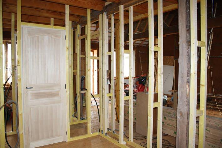 cloison ossature bois section. Black Bedroom Furniture Sets. Home Design Ideas