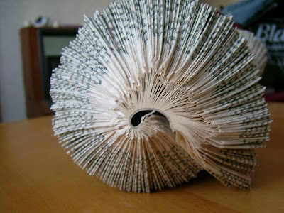 things to make and do paper conch made out of a folded book. Black Bedroom Furniture Sets. Home Design Ideas