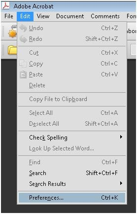 setting read large documents pdf files in adobe