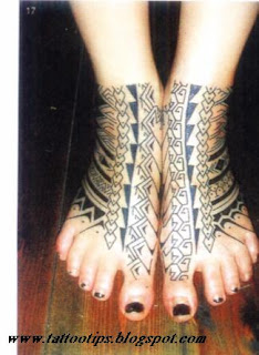 Tribal Foot Tattoo