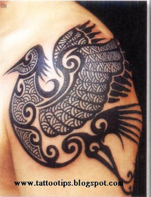 Most tribal tattoos, the best way to make a silhouette of a black or blue.