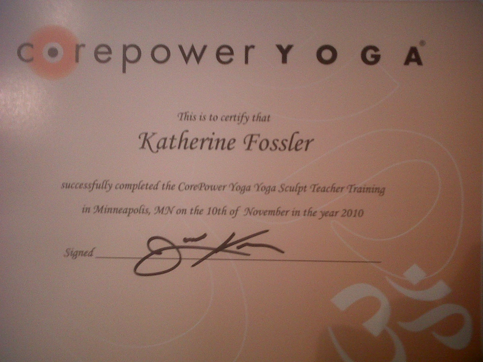 Lady Katherine A Blog With A Touch O Sass Core Power Yoga