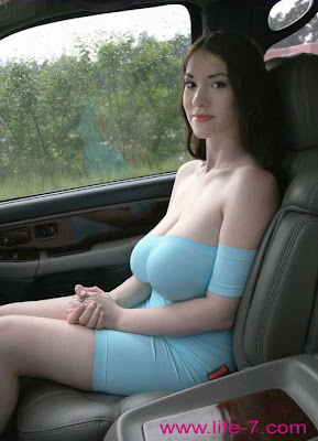 beautiful photo of very sexy and pretty girl in the car