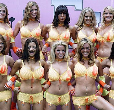 hot lingerie football team