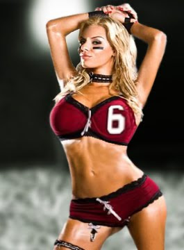 single lingerie football girl
