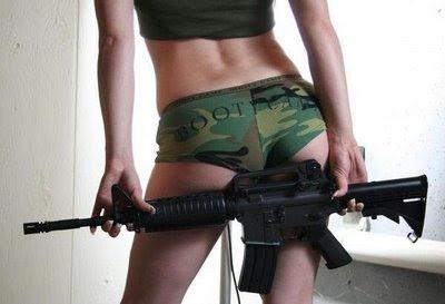 guns and pretty women