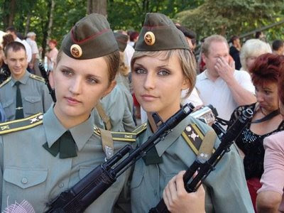 some sexy girls with guns on their hands