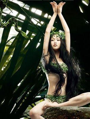 Pretty Girls in the Jungle Pose
