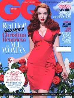 Christina Hendrick Topless GQ Photo on Magazine