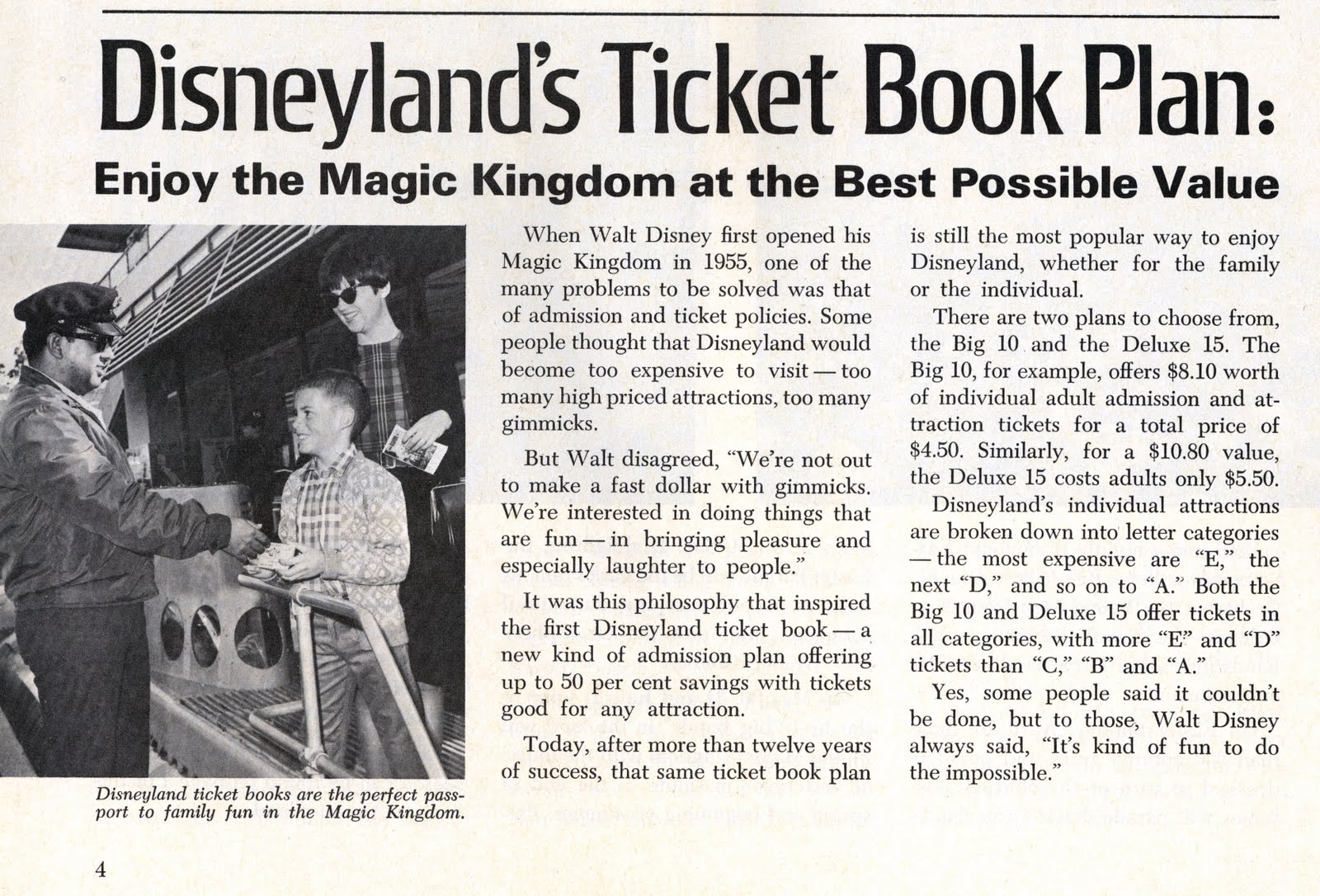 vintage disneyland tickets 1967 disneyland employee family christmas shopping pass. Black Bedroom Furniture Sets. Home Design Ideas