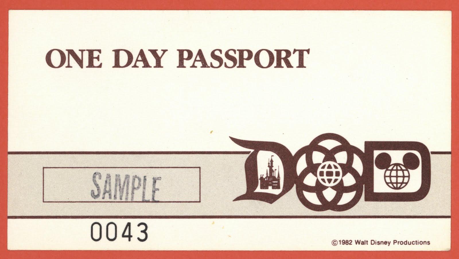 Disney Theme Parks One Day Passport