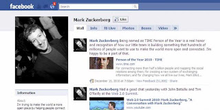 Bugs in the Mark Zuckerberg fan page