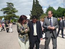Junto al Ministro de Produccion de la Pcia.de Bs.As. y Pte.PJ Brandsen