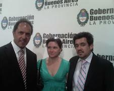 Junto al Gdor. de la Pcia. de Bs.As. D.Scioli y A.Arlia-Ministro de Prod. de la Pcia de Bs.As.