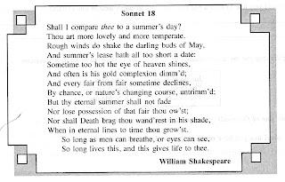 poetry explication of sonnet 18 shakespeare