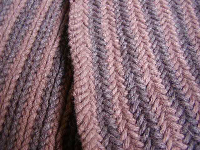 Knits Men Want Reversible Herringbone Scarf