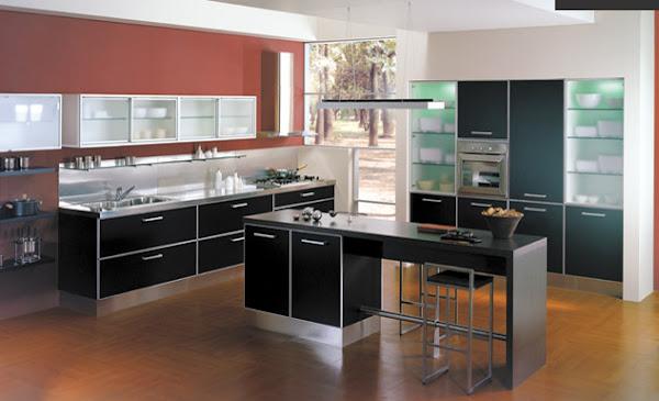 Muebles de cocina modelo estrella con marmol negro brazil for Ver amoblamientos de cocina