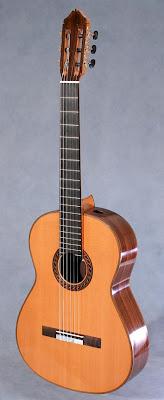 Kenny Hill Signature classical guitar lattice brace, lattice bracing