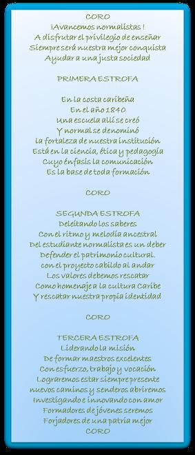HIMNO DE LA ESCUELA NORMAL SUPERIOR DE CARTAGENA DE INDIAS