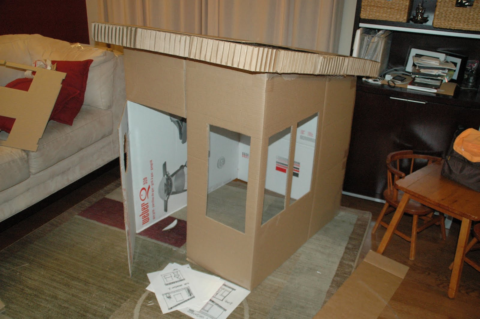 Mom S Daily Adventures Diy Cardboard Playhouse