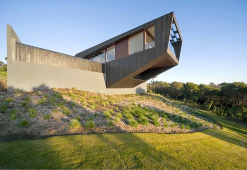 Extreme home house design with unique shape in australia for Extreme home plans