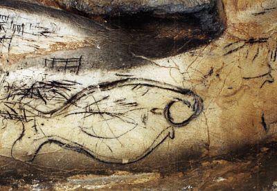 Pez  pintado en la roca de la Cueva de la Pileta  Pez-1%5B1%5D